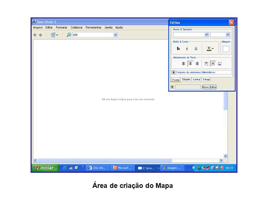 Área de criação do Mapa
