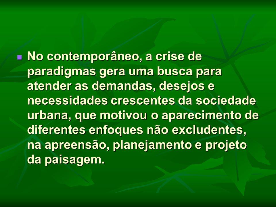 No contemporâneo, a crise de paradigmas gera uma busca para atender as demandas, desejos e necessidades crescentes da sociedade urbana, que motivou o