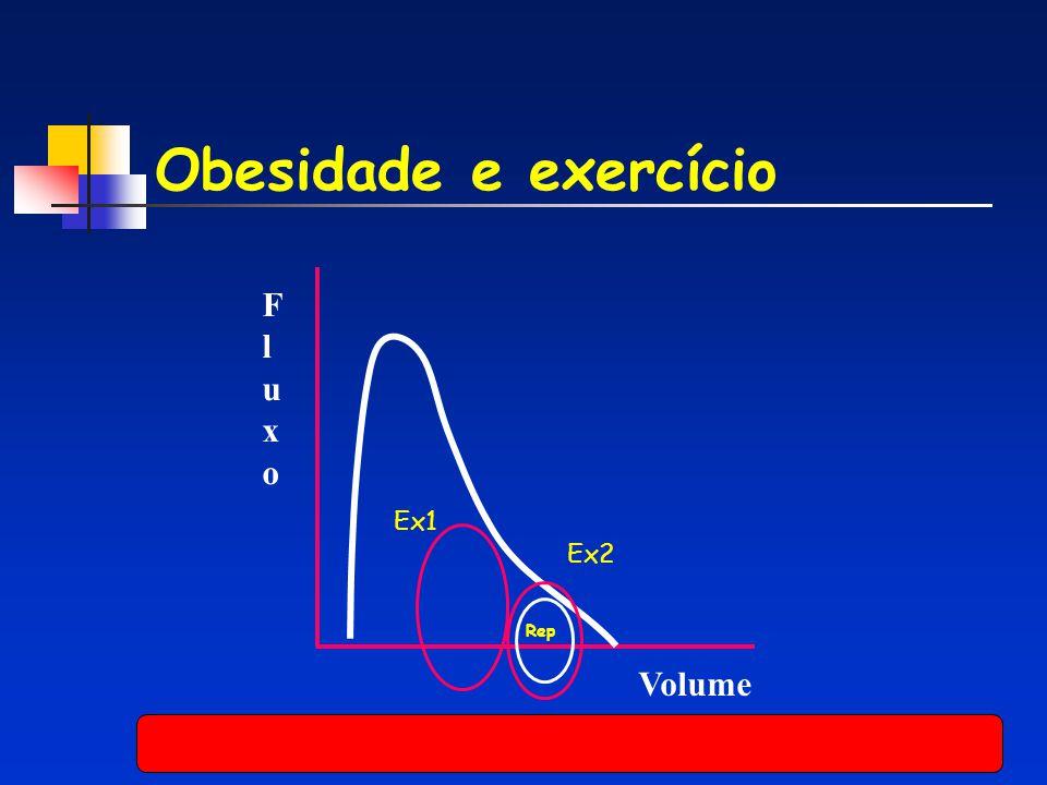 Obesidade e exercício Volume FluxoFluxo Ex1 Ex2 Rep