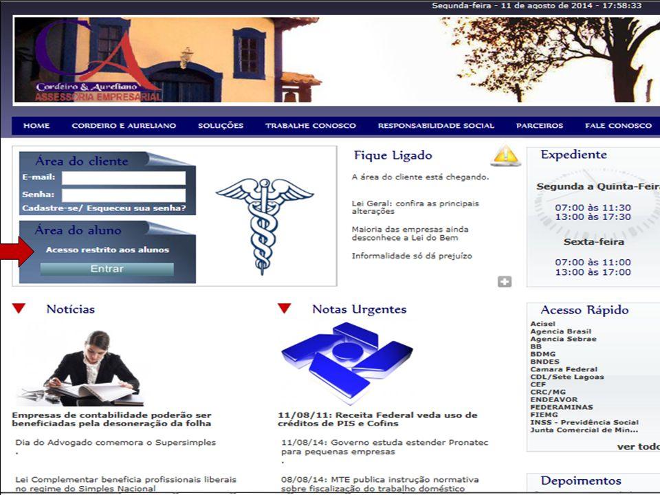 Click to edit Master subtitle style Site: www.cordeiroeaureliano.com.br Área do Aluno Entrar