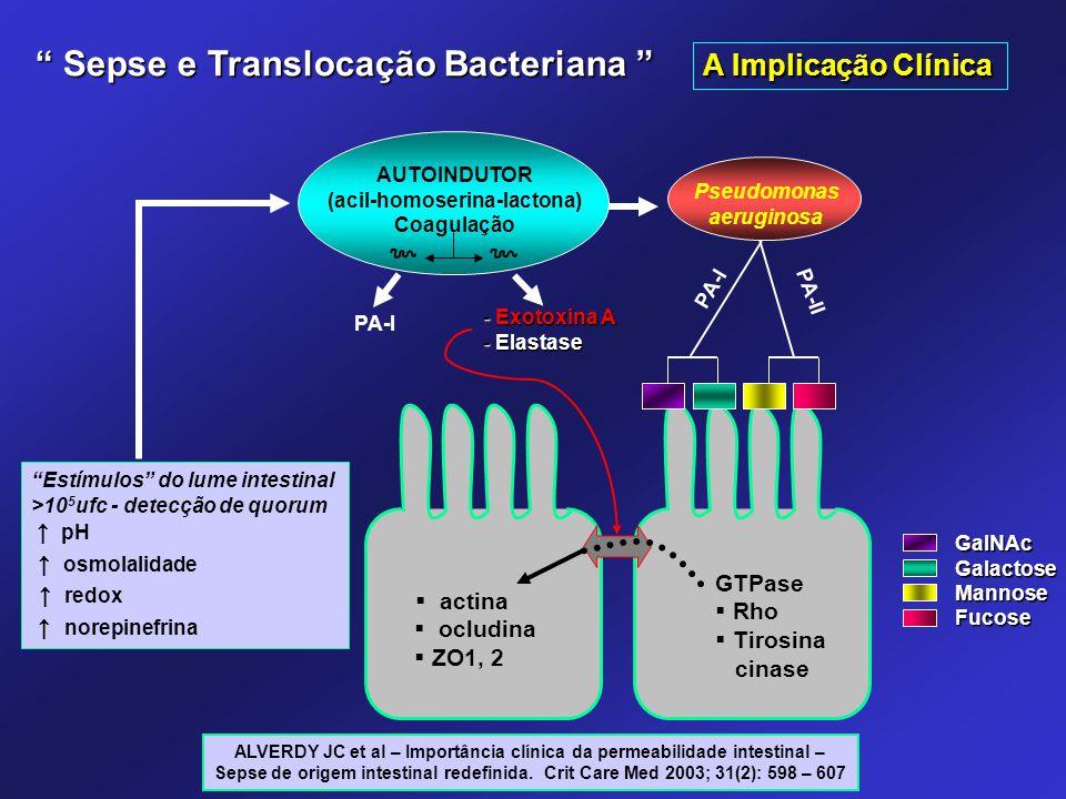 ALVERDY JC et al – Importância clínica da permeabilidade intestinal – Sepse de origem intestinal redefinida. Crit Care Med 2003; 31(2): 598 – 607 AUTO