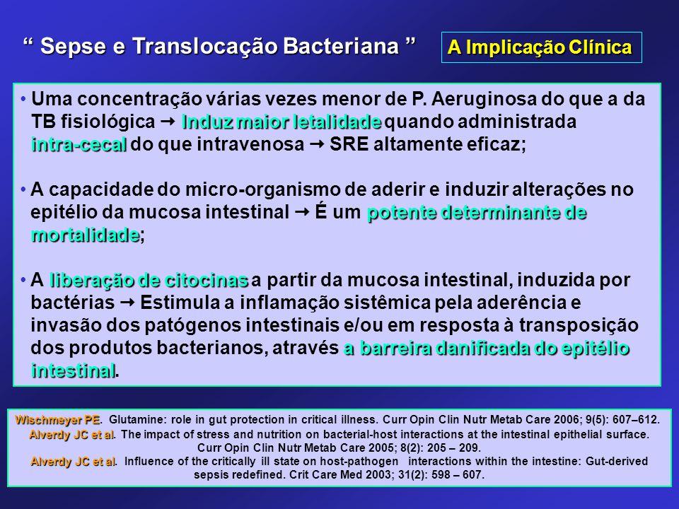 Uma concentração várias vezes menor de P. Aeruginosa do que a da Induz maior letalidade TB fisiológica  Induz maior letalidade quando administrada in