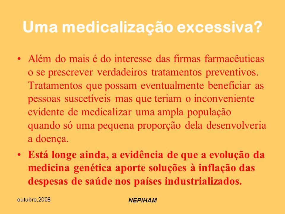 outubro,2008 NEPIHAM Uma medicalização excessiva.