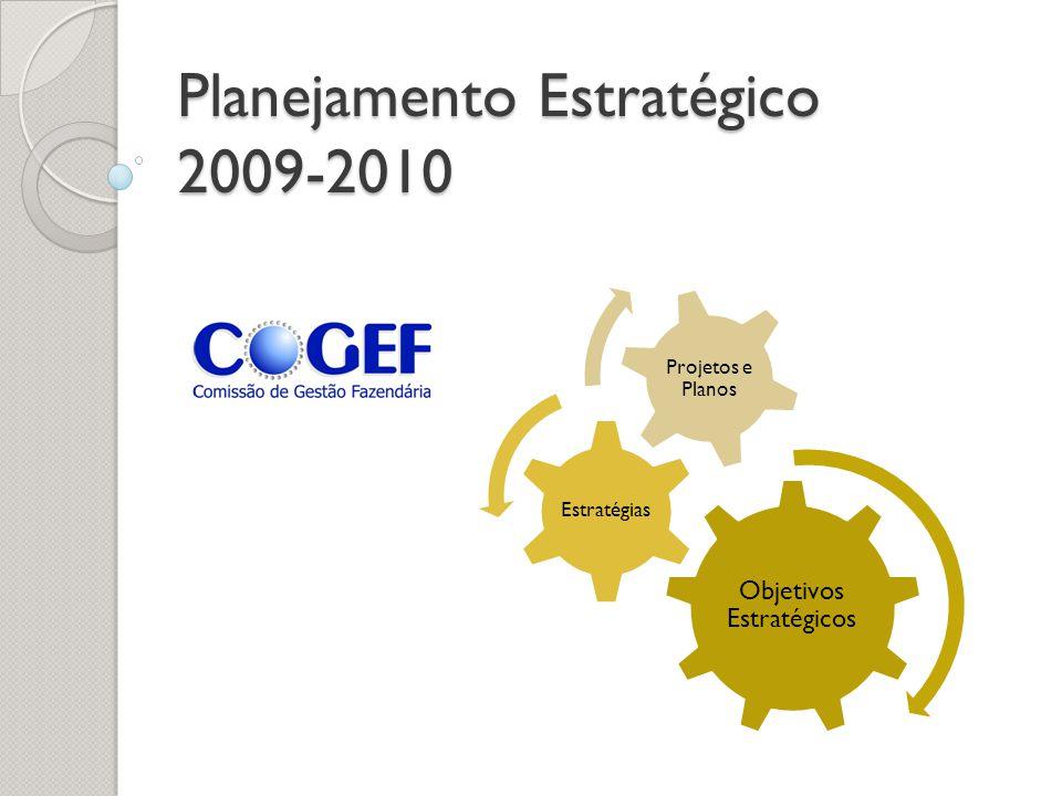 Planejamento Estratégico 2009-2010 Objetivos Estratégicos Estratégias Projetos e Planos