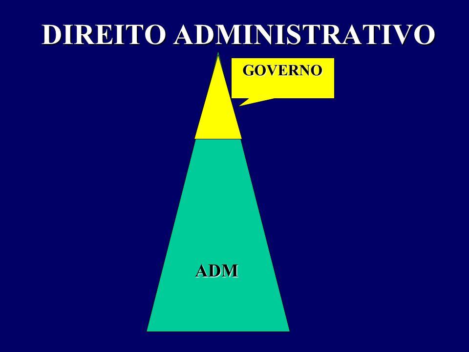 DIREITO ADMINISTRATIVO GOVERNO ADM