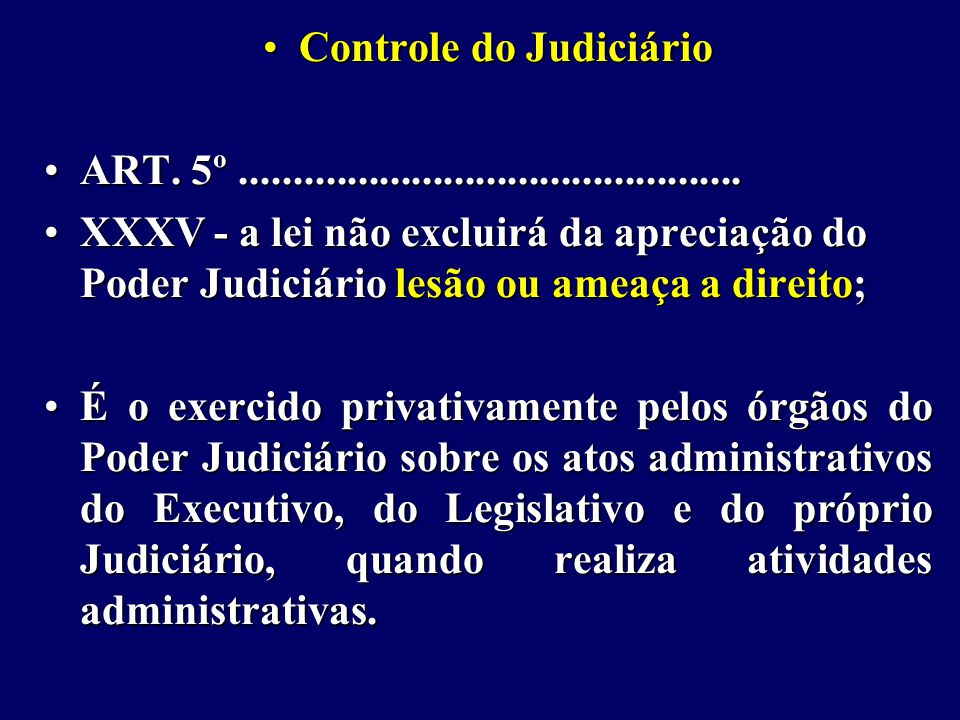 Controle do JudiciárioControle do Judiciário ART.