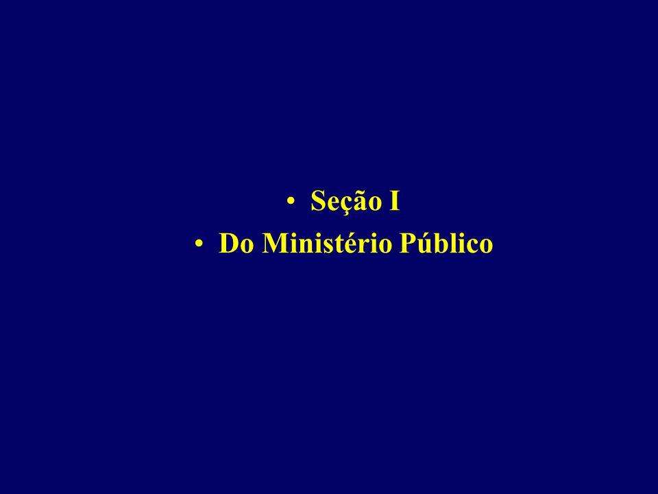 Seção I Do Ministério Público