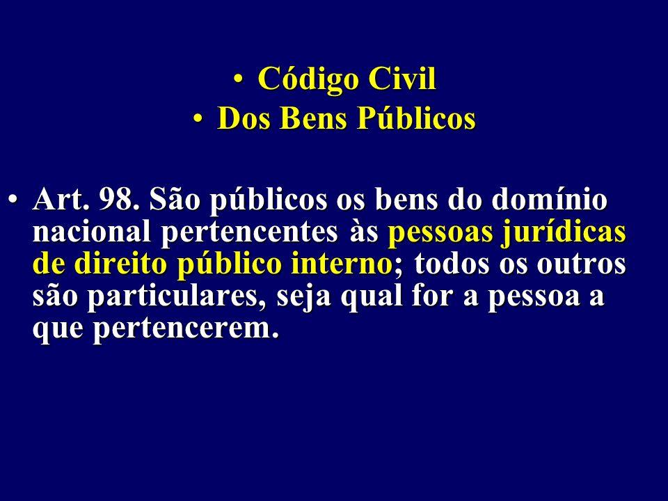 Código CivilCódigo Civil Dos Bens PúblicosDos Bens Públicos Art.