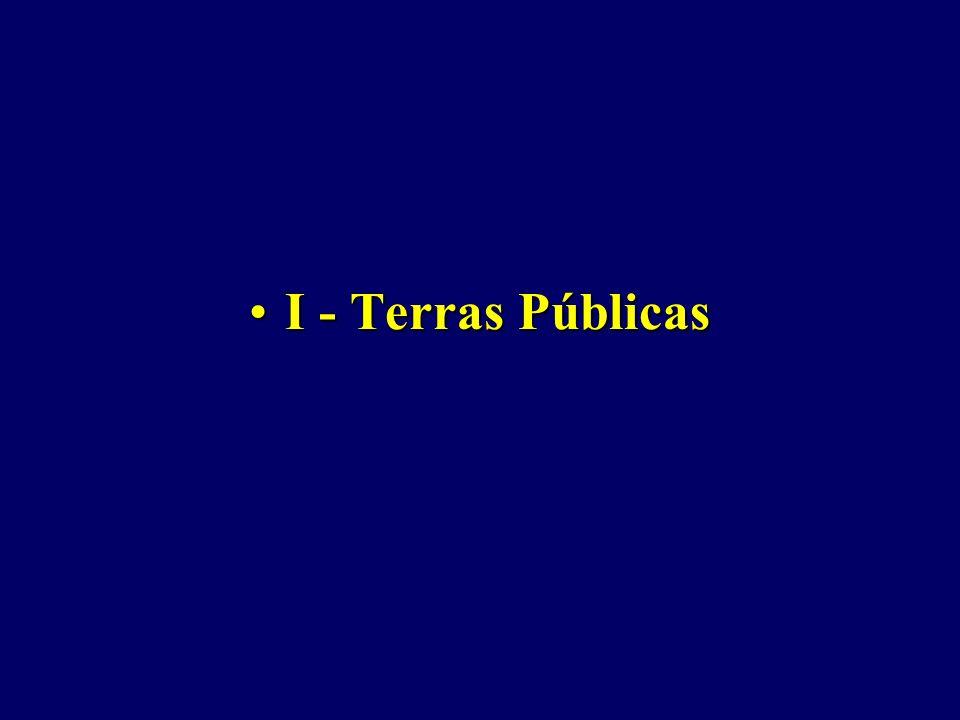 I - Terras PúblicasI - Terras Públicas