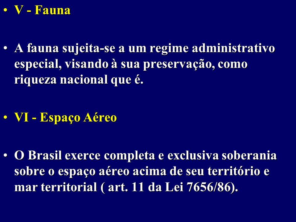 V - FaunaV - Fauna A fauna sujeita-se a um regime administrativo especial, visando à sua preservação, como riqueza nacional que é.A fauna sujeita-se a um regime administrativo especial, visando à sua preservação, como riqueza nacional que é.