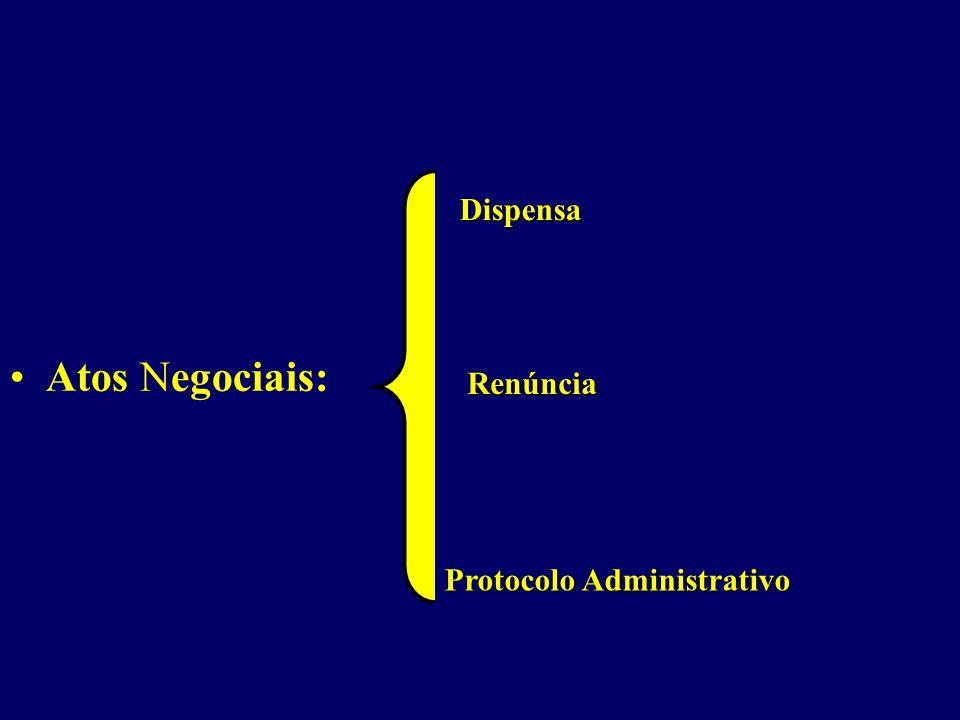Dispensa Renúncia Protocolo Administrativo