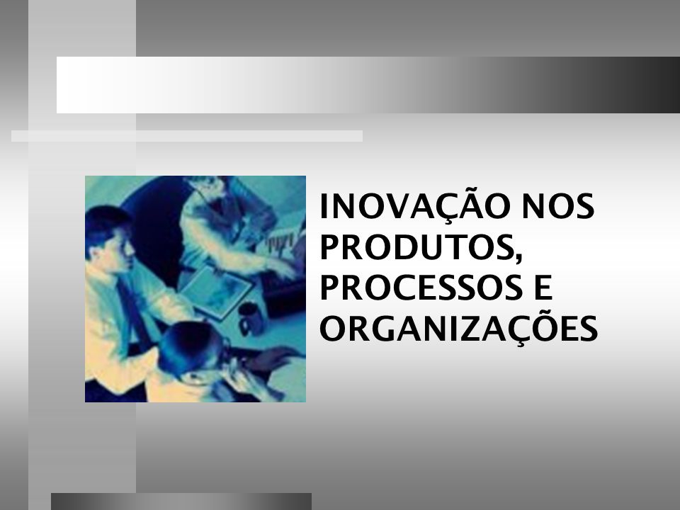 INOVAÇÃO NOS PRODUTOS, PROCESSOS E ORGANIZAÇÕES