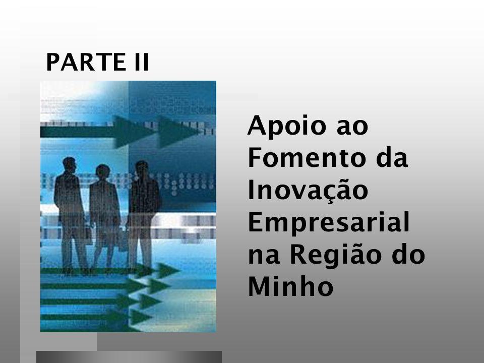 Apoio ao Fomento da Inovação Empresarial na Região do Minho PARTE II