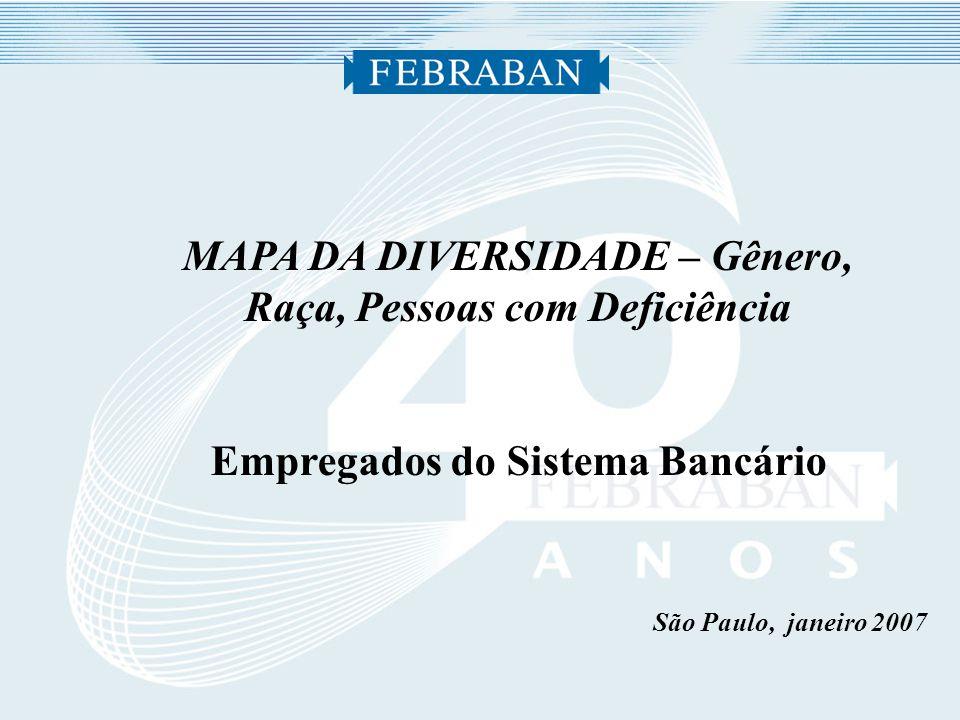 São Paulo, janeiro 2007 MAPA DA DIVERSIDADE – Gênero, Raça, Pessoas com Deficiência Empregados do Sistema Bancário