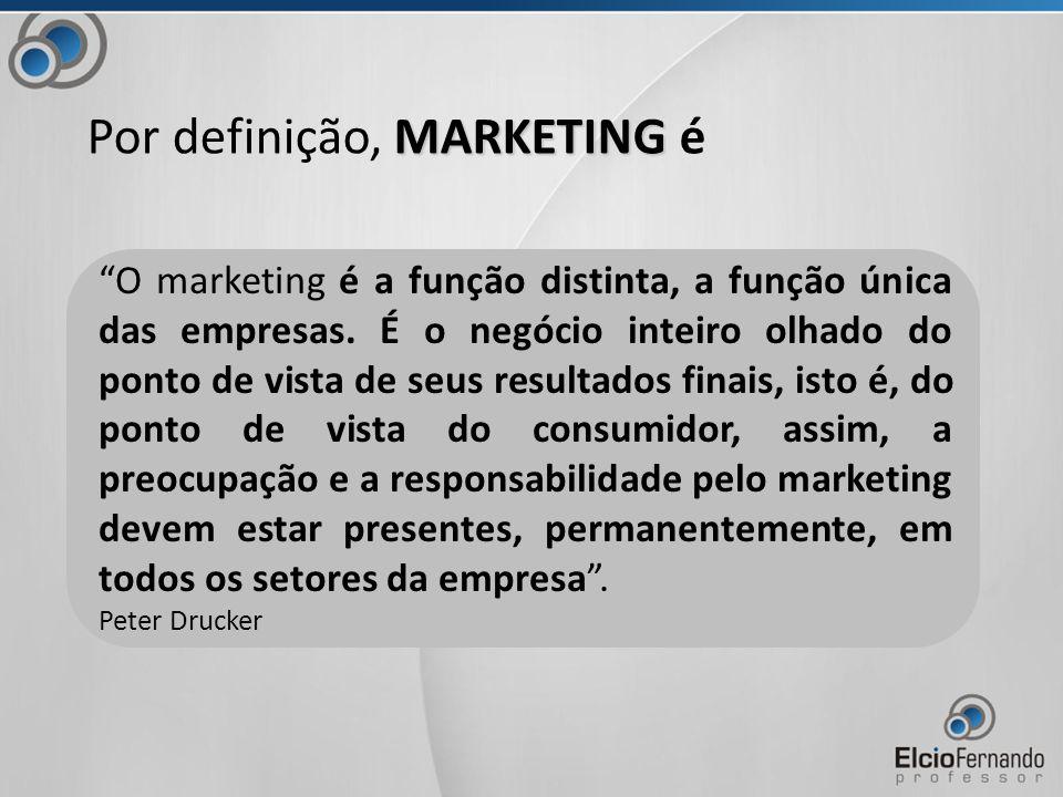 O marketing é a função distinta, a função única das empresas.