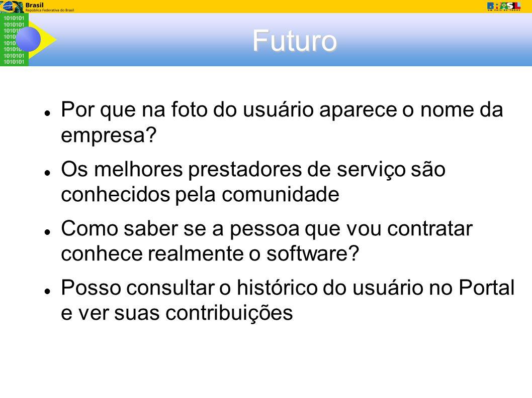 Futuro Por que na foto do usuário aparece o nome da empresa.