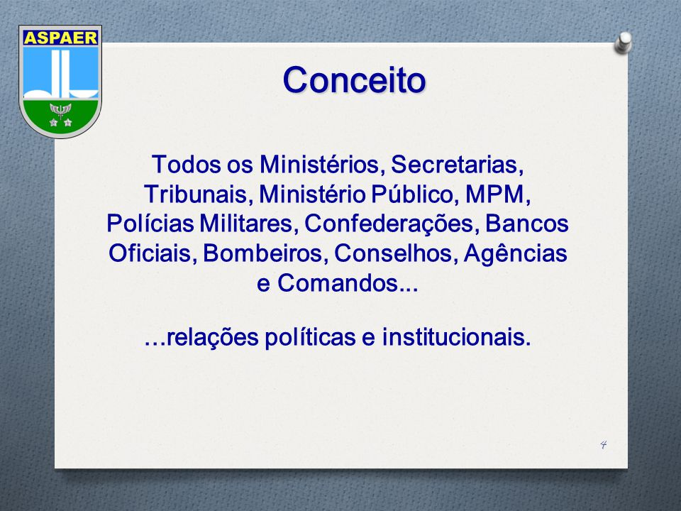 Objetivo 5 Identificar a importância e o papel desempenhado pela ASPAER no relacionamento institucional do Comando da Aeronáutica com os Poderes da República, sustentado sob a forma da comunicação.