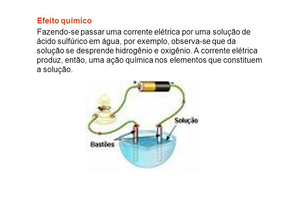 Mód 1 Semiextensivo Efeitos da Corrente Elétrica Efeito térmico Os elétrons, acelerados pelas forças elétricas, colidem com os átomos da rede atômica,