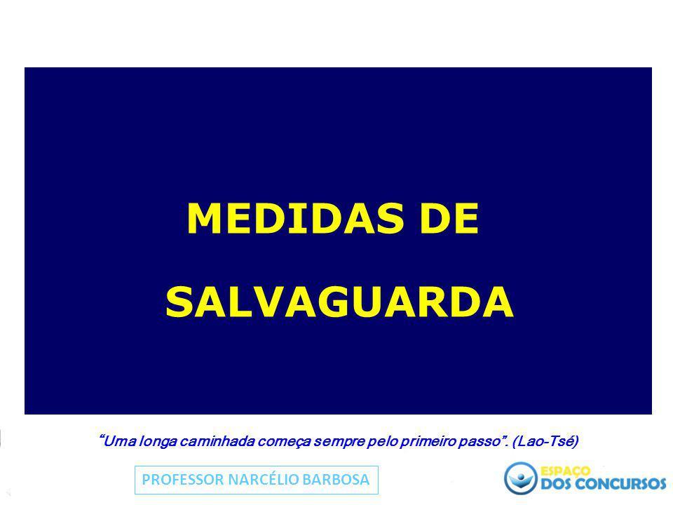 """MEDIDAS DE SALVAGUARDA """" Uma longa caminhada começa sempre pelo primeiro passo"""". (Lao-Tsé) PROFESSOR NARCÉLIO BARBOSA"""