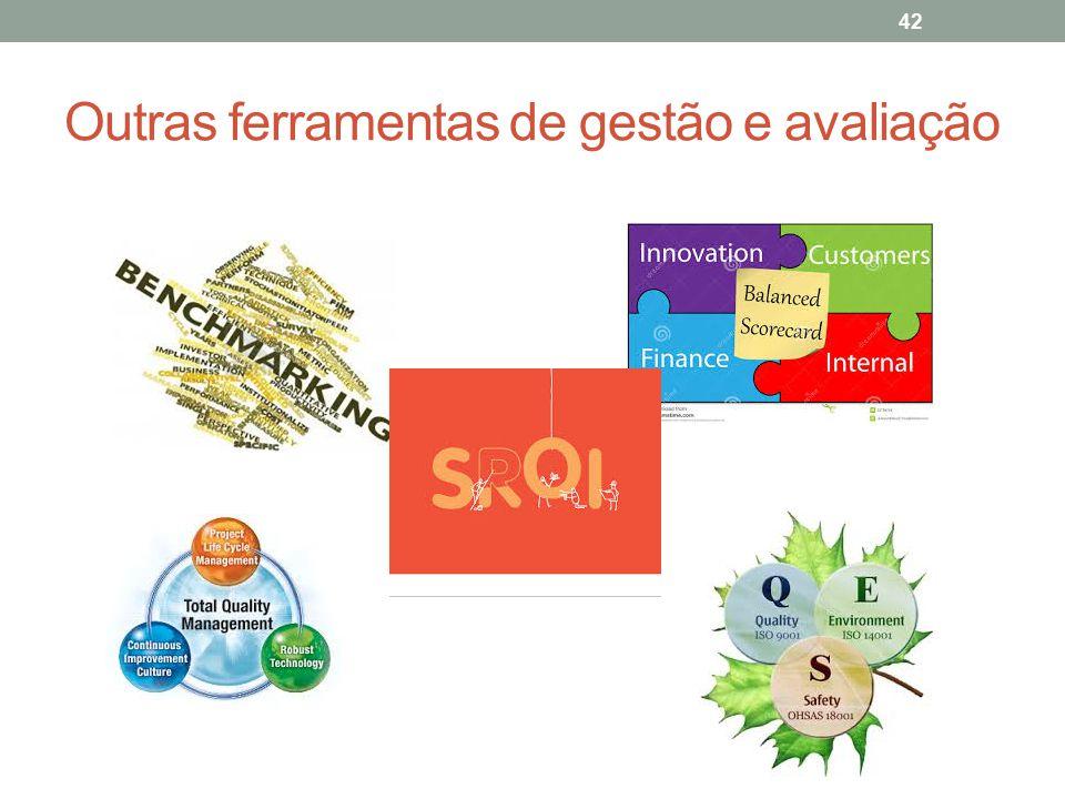 Outras ferramentas de gestão e avaliação 42