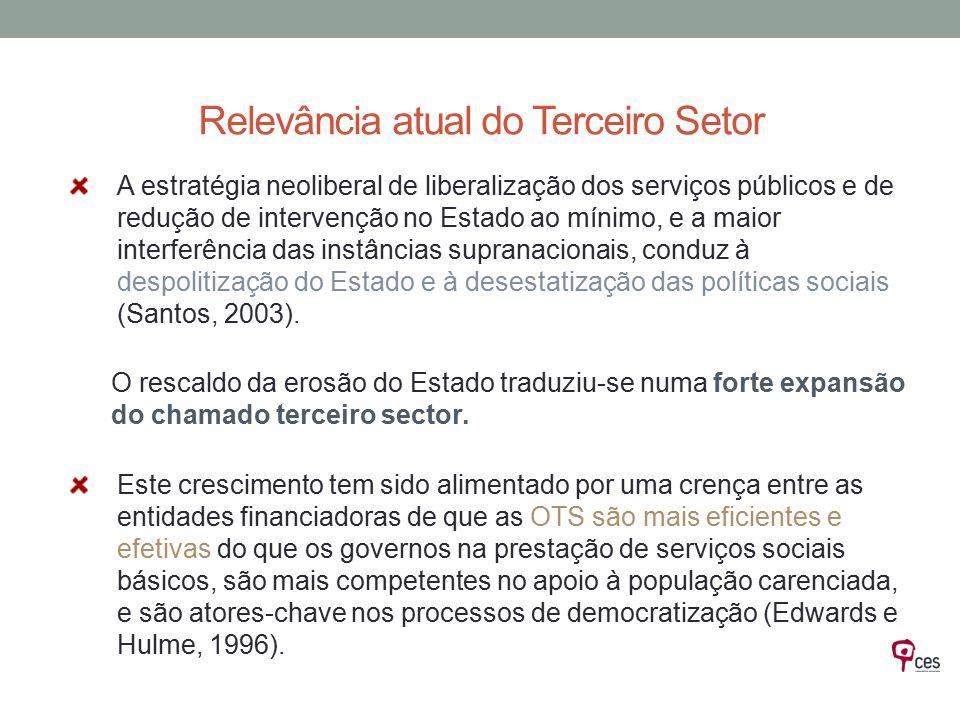 A estratégia neoliberal de liberalização dos serviços públicos e de redução de intervenção no Estado ao mínimo, e a maior interferência das instâncias