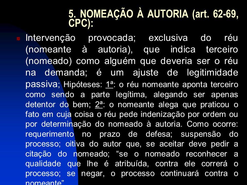 6.DENUNCIAÇÃO DA LIDE (art.