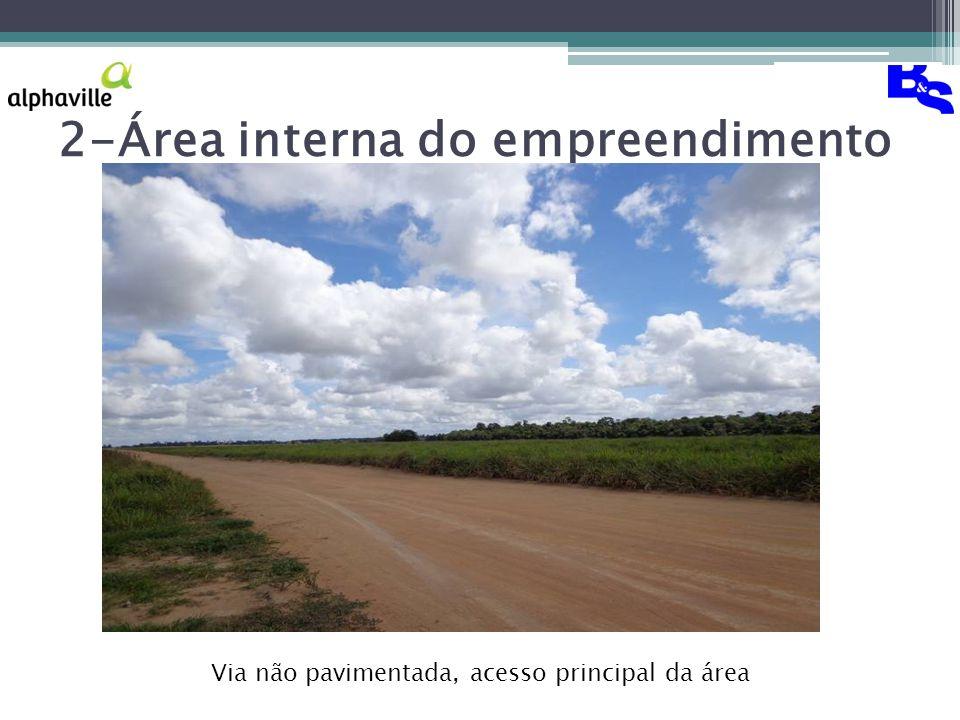 2-Área interna do empreendimento Via não pavimentada, acesso principal da área