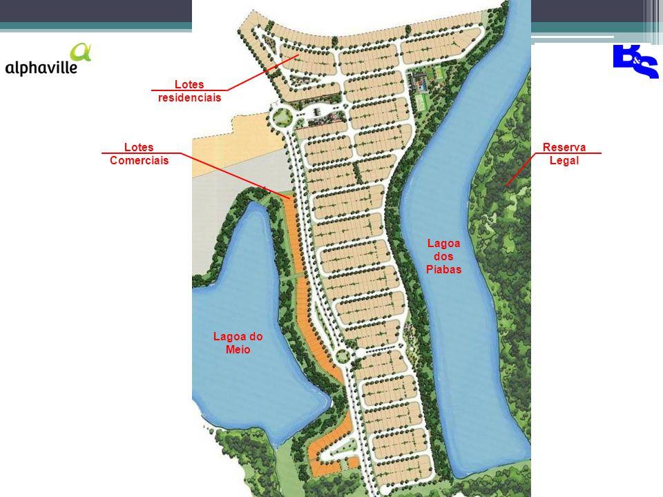 Lagoa do Meio Lagoa dos Piabas Reserva Legal Lotes residenciais Lotes Comerciais
