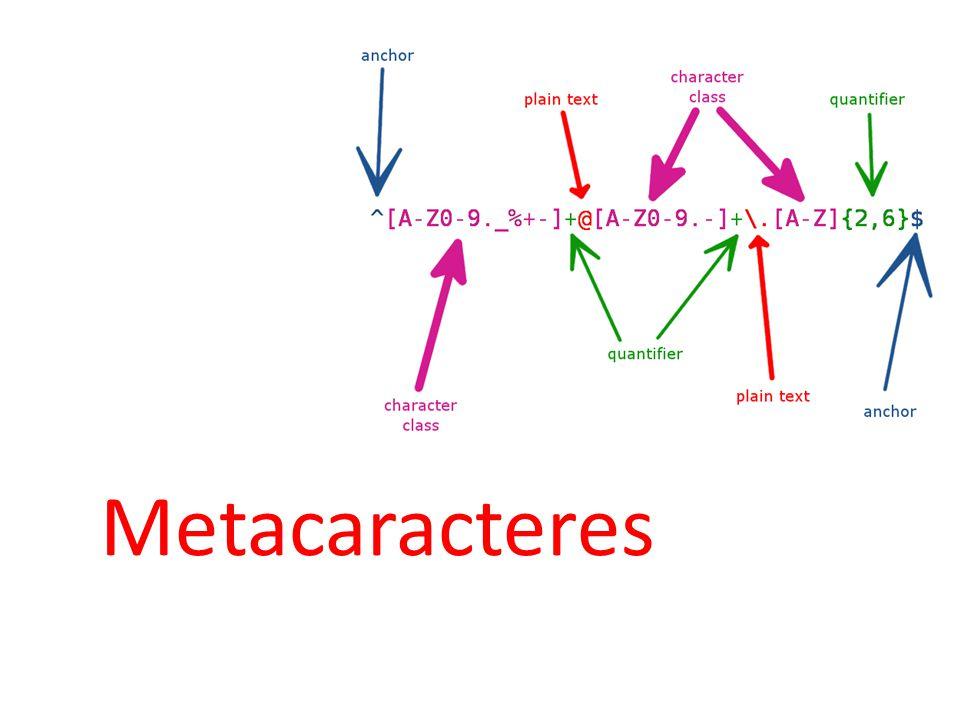 Metacaracteres