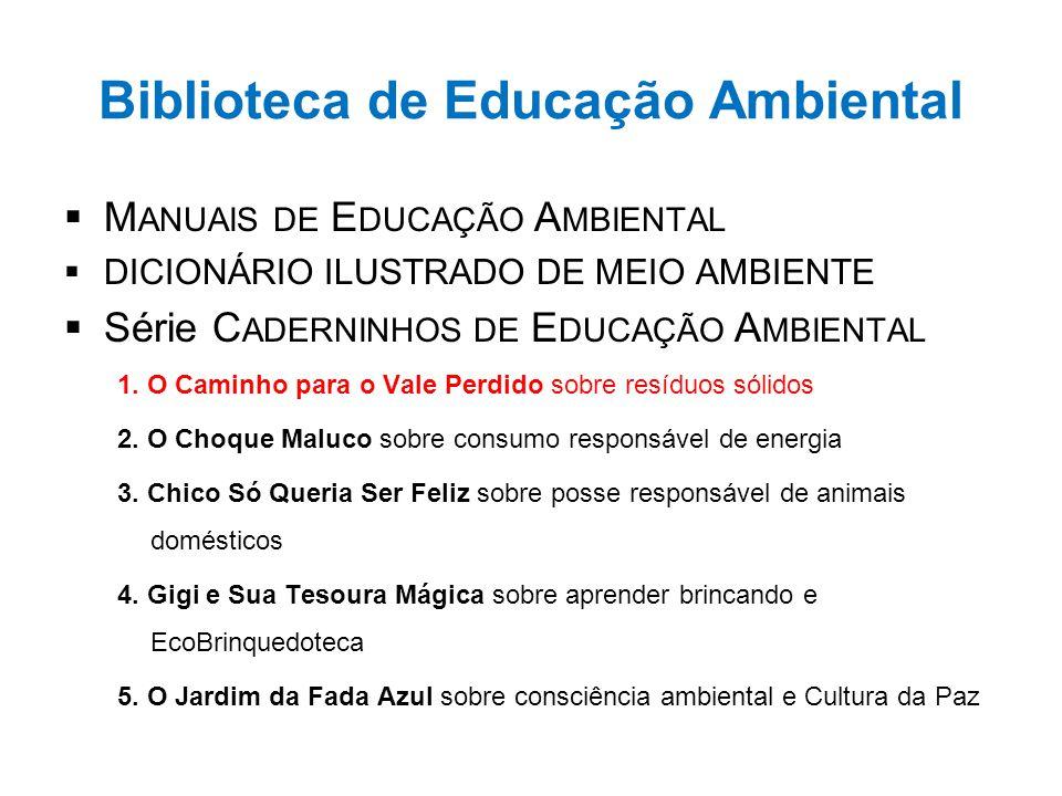 Biblioteca de Educação Ambiental  M ANUAIS DE E DUCAÇÃO A MBIENTAL  DICIONÁRIO ILUSTRADO DE MEIO AMBIENTE  Série C ADERNINHOS DE E DUCAÇÃO A MBIENT