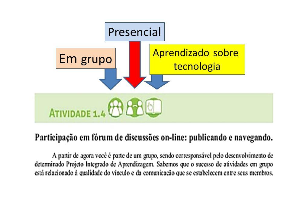 Em grupo Presencial Aprendizado sobre tecnologia