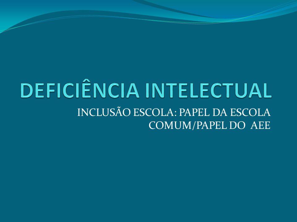 INCLUSÃO ESCOLA: PAPEL DA ESCOLA COMUM/PAPEL DO AEE