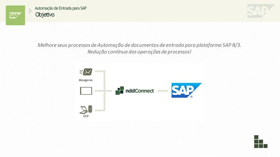 Melhore seus processos de Automação de documentos de entrada para plataforma SAP R/3. Redução contínua das operações de processos! Objetivo Imagem.