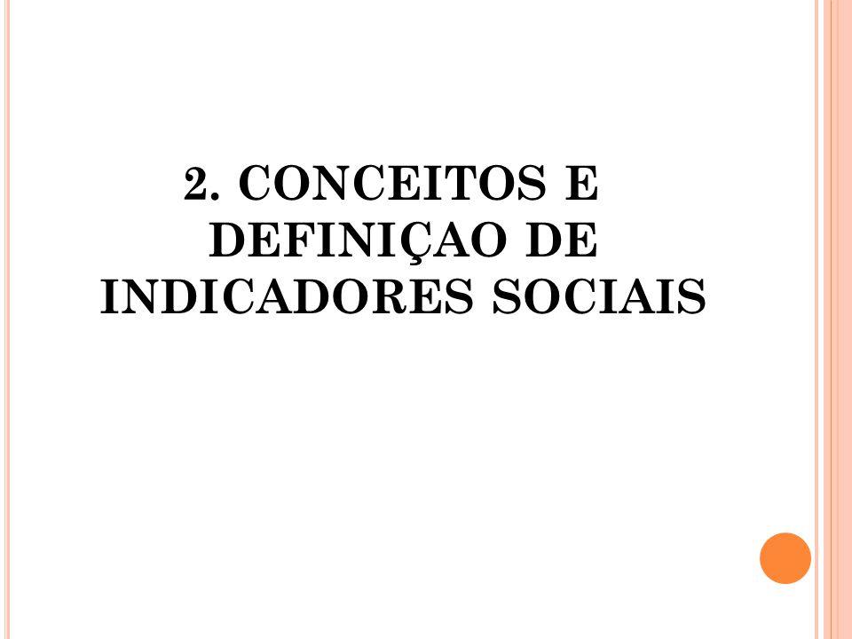 2. CONCEITOS E DEFINIÇAO DE INDICADORES SOCIAIS
