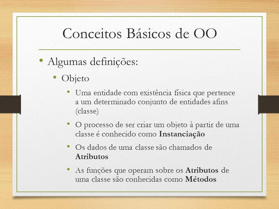 Conceitos Básicos de OO A palavra classe vem da taxonomia da biologia.