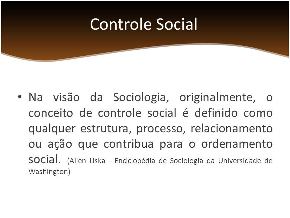 Conceito do Texto-Base da Consocial (CGU): Pode ser entendido como a participação do cidadão na gestão pública, no planejamento, na fiscalização, no monitoramento e no controle das ações da Administração Pública.