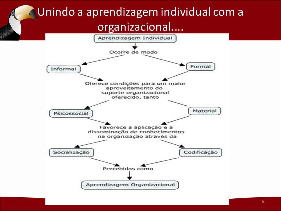 Aprendizagem em Organizações - AO AO é atividade complexa e multinível – ocorre no nível individual e em níveis de análise coletivos mais abrangentes, intermediários (grupos) e mais amplos (organização e ambiente).