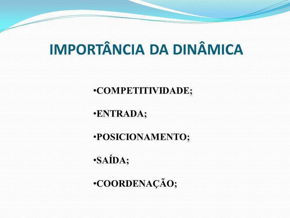 IMPORTÂNCIA DA DINÂMICA COMPETITIVIDADE; ENTRADA; POSICIONAMENTO; SAÍDA; COORDENAÇÃO;