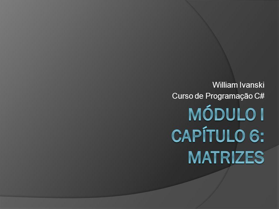 William Ivanski Curso de Programação C#