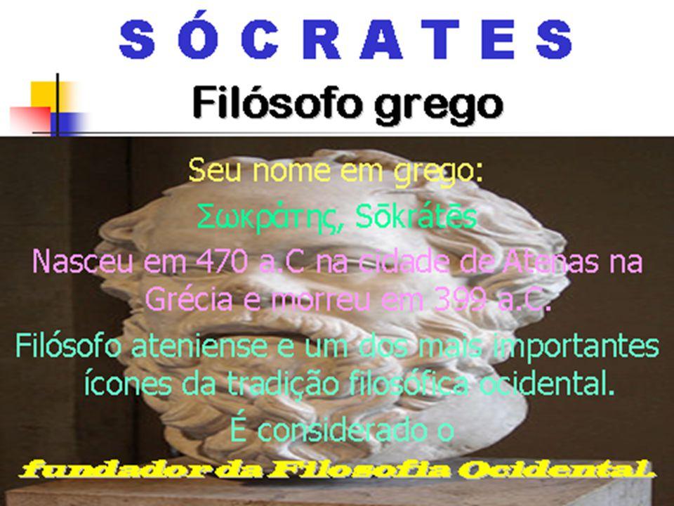 SÓCRATES Vai resolver o impasse criado por Parmênide e Heráclito, descobrindo o CONCEITO Sócrates - www.wikipedia.org