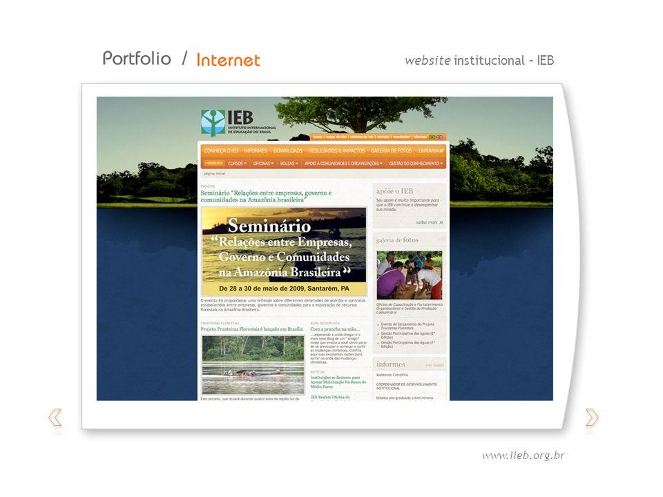 website institucional – IEB www.iieb.org.br