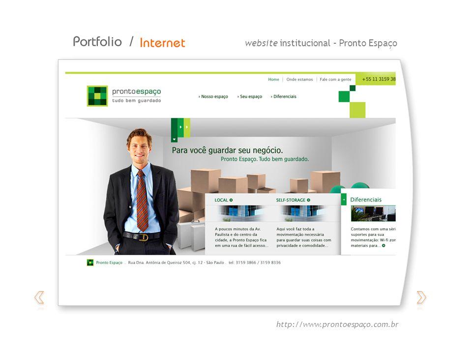 website institucional – Pronto Espaço http://www.prontoespaço.com.br