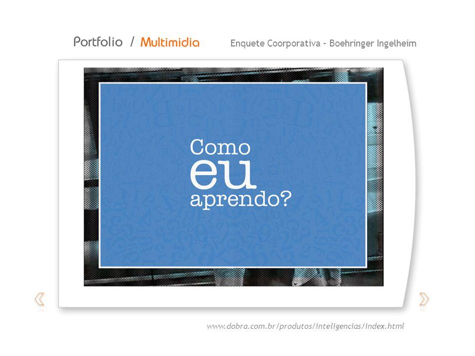 Enquete Coorporativa – Boehringer Ingelheim www.dobra.com.br/produtos/inteligencias/index.html