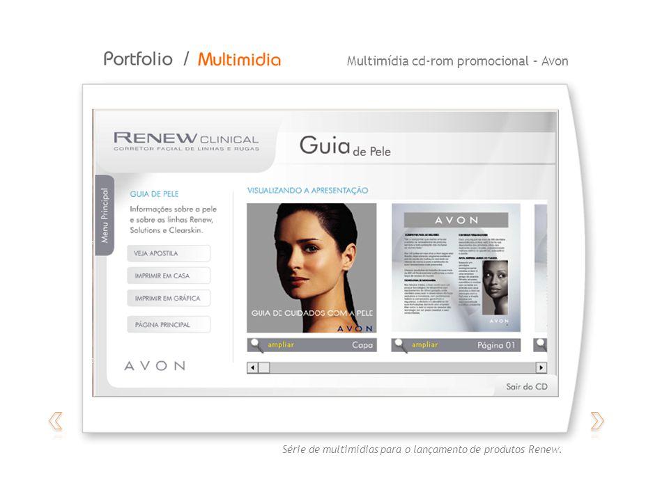 Multimídia promocional – AvonMultimídia cd-rom promocional – Avon Série de multimídias para o lançamento de produtos Renew.