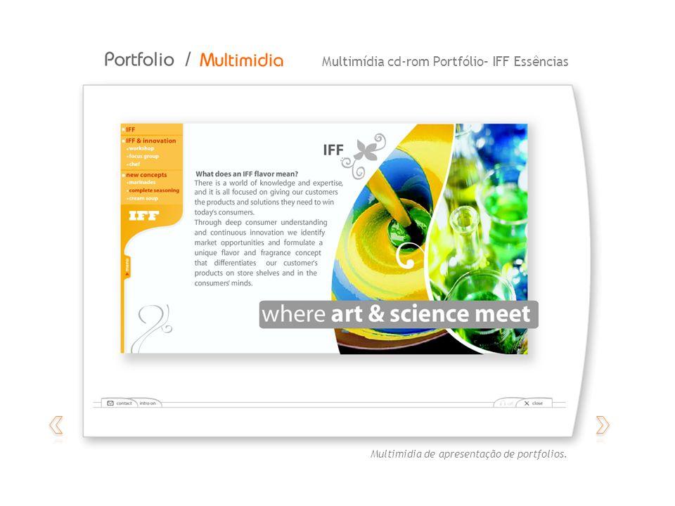 Multimídia autoral – NatividadeMultimídia cd-rom Portfólio– IFF Essências Multimidia de apresentação de portfolios.