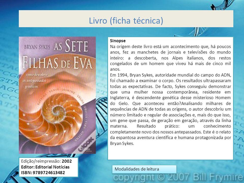 Livro (ficha técnica) Edição/reimpressão: 2002 Editor: Editorial Notícias ISBN: 9789724613482 Sinopse Na origem deste livro está um acontecimento que,