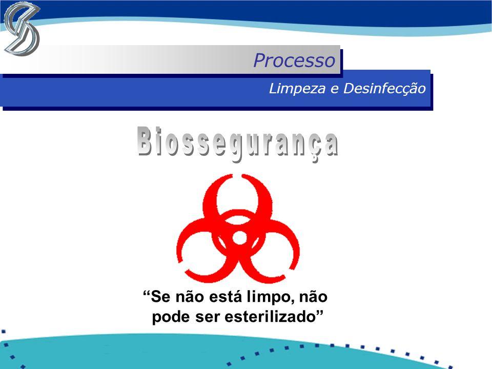 """Limpeza e Desinfecção Processo """"Se não está limpo, não pode ser esterilizado"""""""