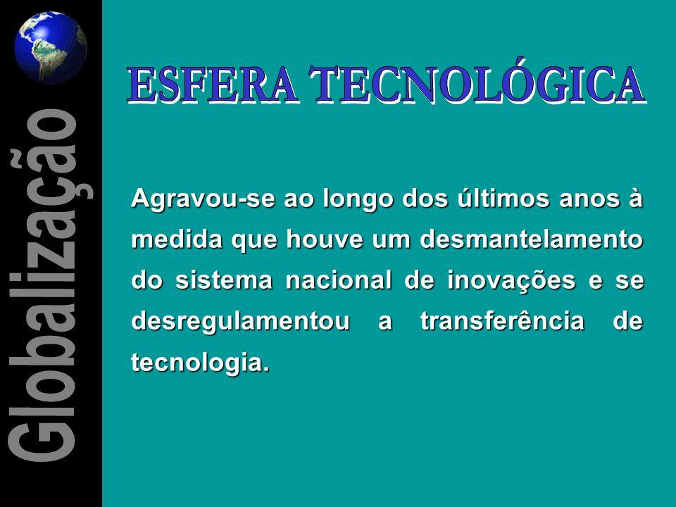 Refere-se, em grande medida, ao grau de abertura da economia brasileira para a penetração das importações de bens e serviços, bem como ao baixo grau d