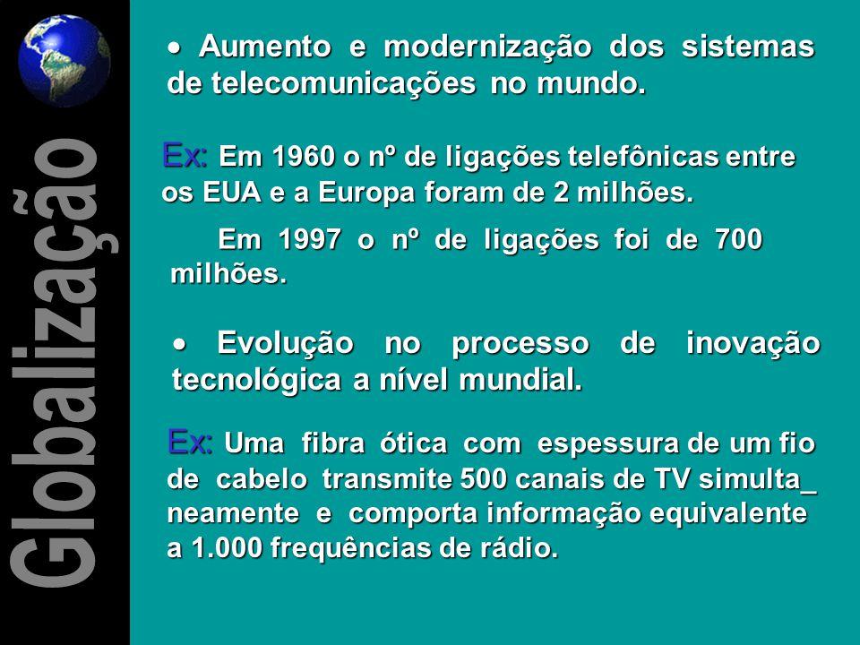    Incremento do fluxo do comércio internacional de bens e serviços. EFEITOS POSITIVOS Ex: Início dos anos 80 o valor girava cerca de US$ 5 trilhõe