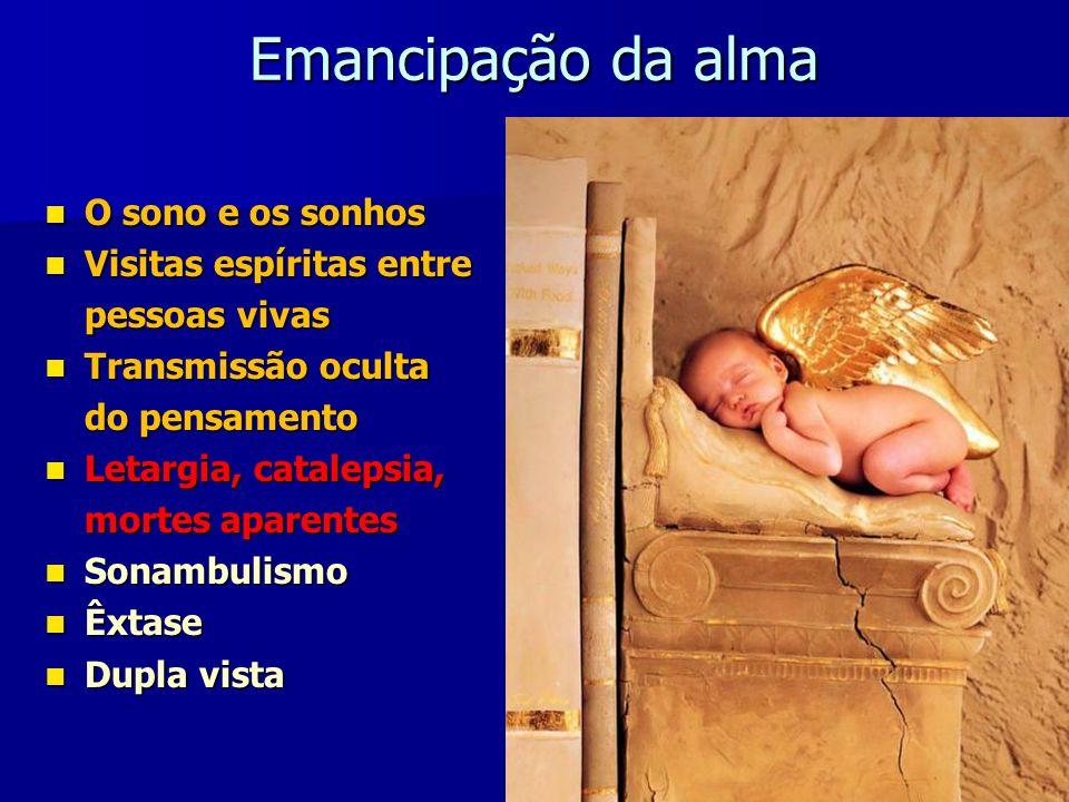 O sono e os sonhos O Espírito não se acha encerrado no corpo como numa caixa; irradia por todos os lados.